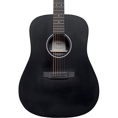 Martin D-X1E HPL Dreadnought Acoustic-Electric Guitar Black