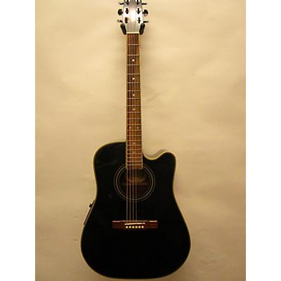 Washburn D10CE/B Acoustic Electric Guitar