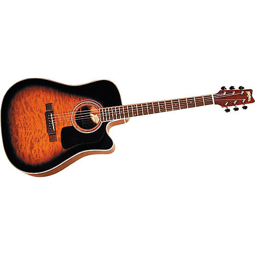 washburn d10ceq quilted acoustic electric guitar musician 39 s friend. Black Bedroom Furniture Sets. Home Design Ideas