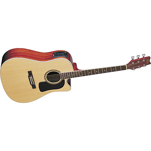 washburn d10sce cutaway acoustic electric guitar musician 39 s friend. Black Bedroom Furniture Sets. Home Design Ideas