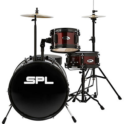 Sound Percussion Labs D1316 Lil Kicker 3-Piece Drum Kit With Throne
