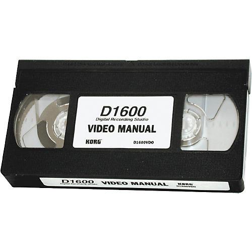 Korg D1600 Video Owner's Manual