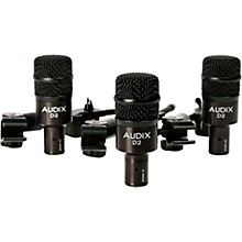 Audix D2 Drum Microphone and Clamps 3-Pack