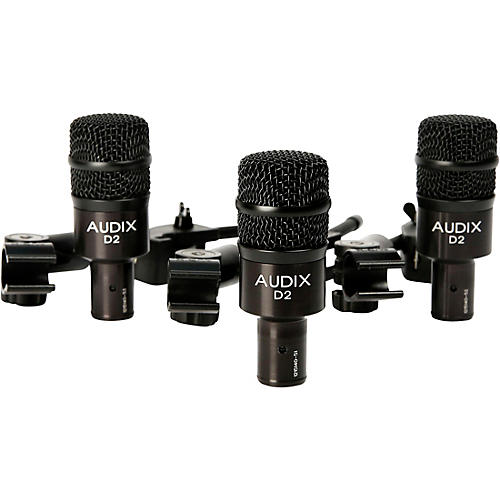 D2 Drum Microphone and Clamps 3-Pack