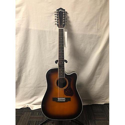 Guild D2612CE TBS 12 String Acoustic Electric Guitar 3 Tone Sunburst
