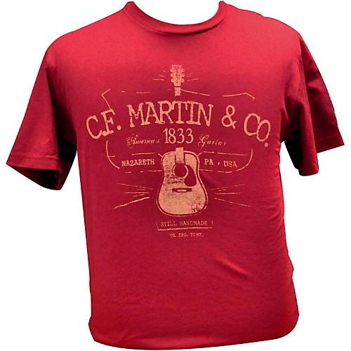 Martin D28 Logo T-Shirt Cardinal XL