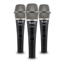 CadLive D32 Supercardioid Dynamic Handheld Microphones (3-Pack)