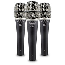 CadLive D38 Supercardioid Dynamic Handheld Microphones (3-Pack)