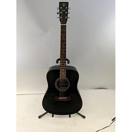 S101 Guitars D4410 Acoustic Guitar Black