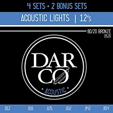 Darco D520 80/20 Light 6 Set Value Pack Acoustic Guitar Strings