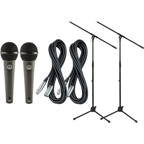 AKG D790 Dynamic Mic with Cable and Stand 2 Pack