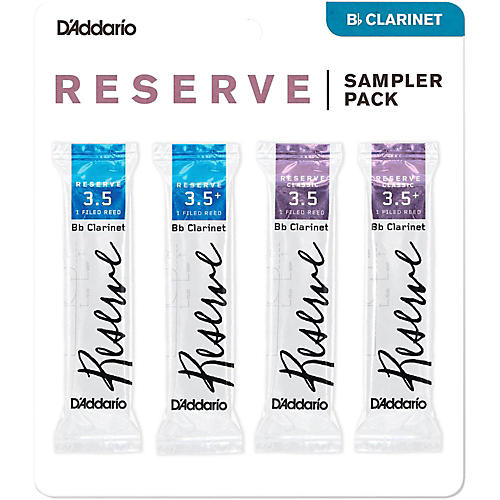 D'Addario Woodwinds D'Addario Reserve Bb Clarinet Reed Sampler Pack 3.5
