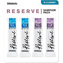 D'Addario Reserve Bb Clarinet Reed Sampler Pack 3.5+