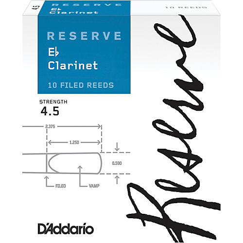 D'Addario Woodwinds D'Addario Reserve Eb Clarinet Reed 4.5