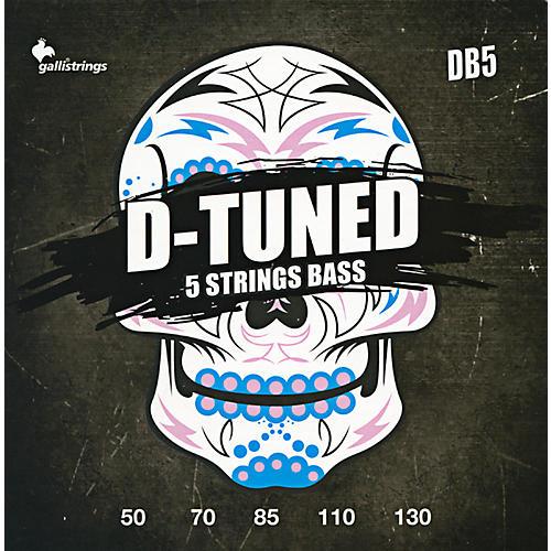 Galli Strings DB5 D-TUNED 5-String Bass Strings 50-130