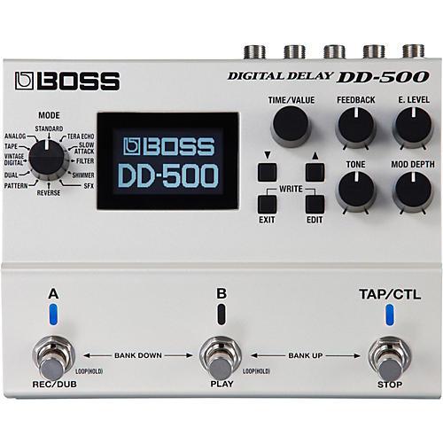 boss dd 500 digital delay guitar effects pedal musician 39 s friend. Black Bedroom Furniture Sets. Home Design Ideas