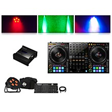 Pioneer DDJ-1000 Performance Controller with RB-DMX1 Lighting Controller and ADJ Ultra Quad Pak Pro
