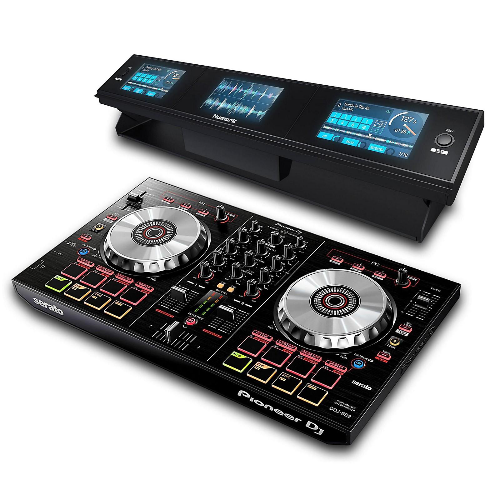 Pioneer DDJ-SB2 Serato DJ Intro Controller with Dashboard 3-Screen Display