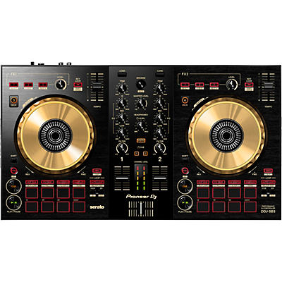 Pioneer DDJ-SB3-N Limited Edition Gold Serato DJ Controller With Pad Scratch