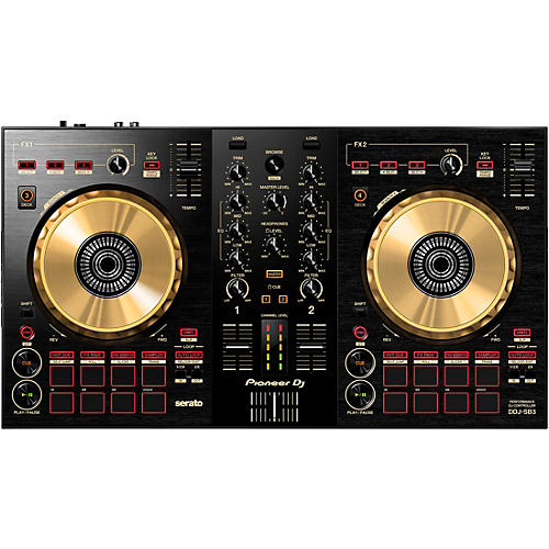 Pioneer DDJ-SB3-N Limited-Edition Gold Serato DJ Controller with Pad Scratch
