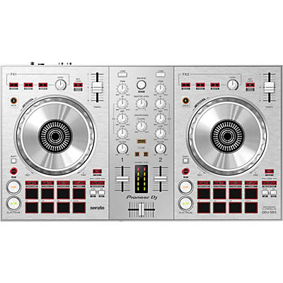 Pioneer DDJ-SB3-S Limited Edition Silver Serato DJ Controller with Pad Scratch