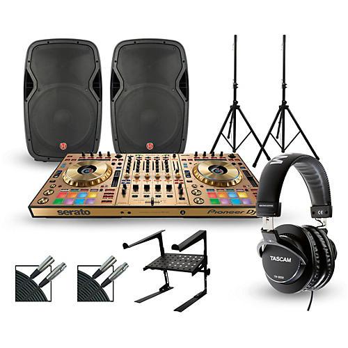 pioneer ddj sz2 gold edition with harbinger v1015 dj package musician 39 s friend. Black Bedroom Furniture Sets. Home Design Ideas