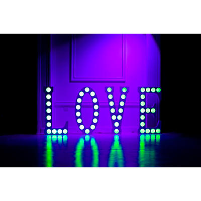 Eliminator Lighting DECOR LOVE 2.0 Lighted L O V E white letters 45 inches tall