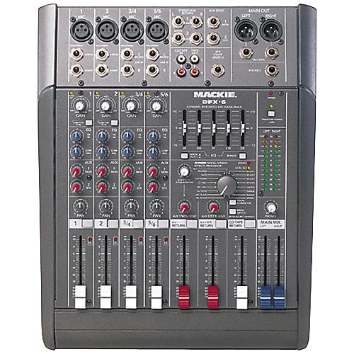 Mackie DFX6 6x2 Mixer with EFX