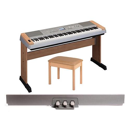 Yamaha DGX 640 88-Key Digital Piano with WB2 Padded Bench & LP-7 Pedal Unit