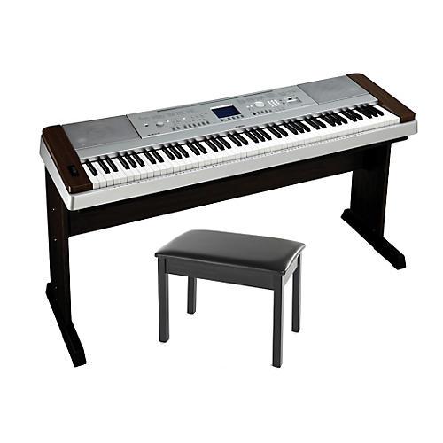 Yamaha DGX-640 88-Key Digital PianoWalnut with BB1 Padded Bench