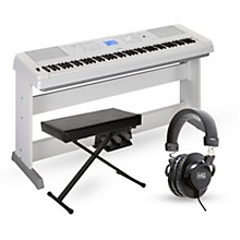 DGX-660 88-Key Portable Grand Piano Package White Advanced Home Package