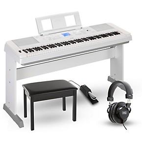 Yamaha DGX-660 88-Key Portable Grand Piano Package White