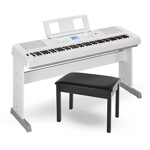 DGX660 88-Key Portable Grand Piano White with Bench