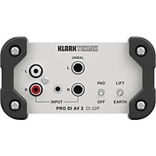Klark Teknik DI 22P Passive Stereo DI Box with MIDAS Transformers