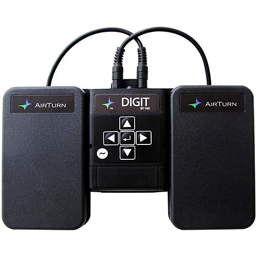 AirTurn DIGIT Wireless Controller with 2 ATFS-2 Pedals and Pedal Board