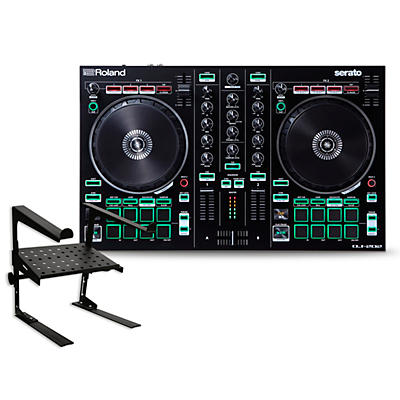 Roland DJ-202 DJ Controller with Laptop Stand
