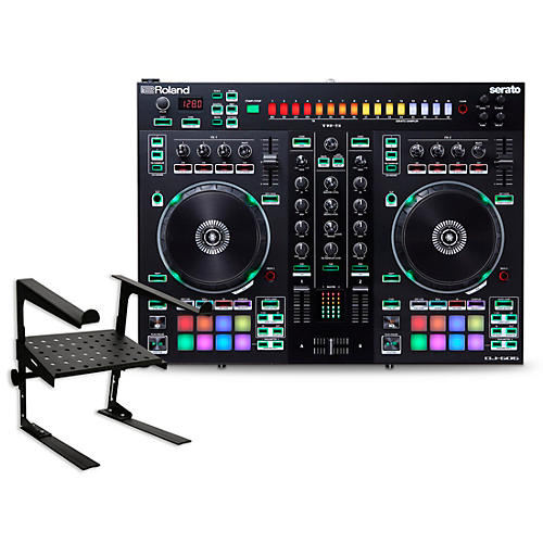 Roland DJ-505 DJ Controller with Laptop Stand