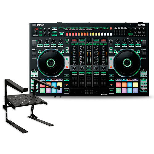 Roland DJ-808 DJ Controller with Laptop Stand