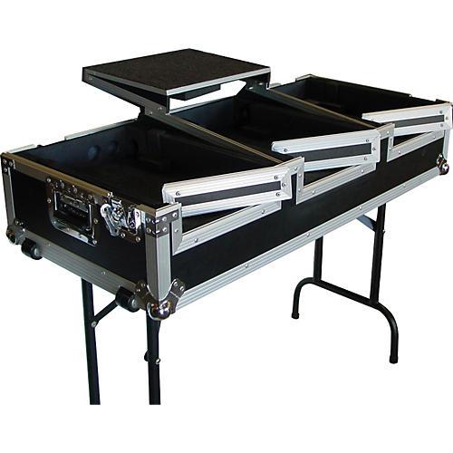 Eurolite DJ CD Coffin Case with Laptop Shelf and Folding Table Legs
