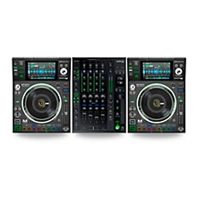 Denon DJ DJ Package With Two SC5000M Prime Media Players and X1800 Prime Mixer