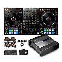 Pioneer DJ Package with DDJ-1000 Controller, RB-DMX1 Lighting Controller and ADJ LED Lights