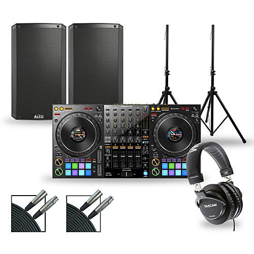 Pioneer DJ Package with DDJ-1000 Controller and Alto TS3 Series Speakers 12