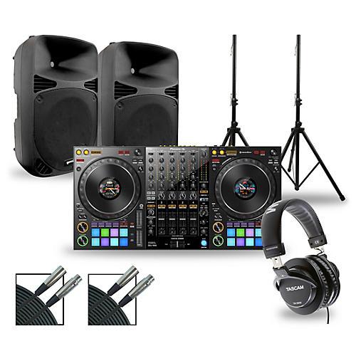 Pioneer DJ Package with DDJ-1000 Controller and Gemini HPS BLU Series Speakers