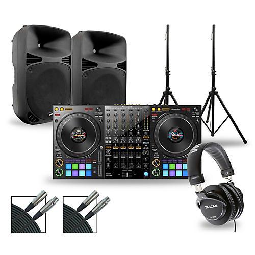 Pioneer DJ Package with DDJ-1000 Controller and Gemini HPS BLU Series Speakers 15