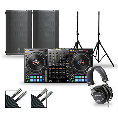 Pioneer DJ Package with DDJ-1000 Controller and Mackie Thump Boosted Speakers