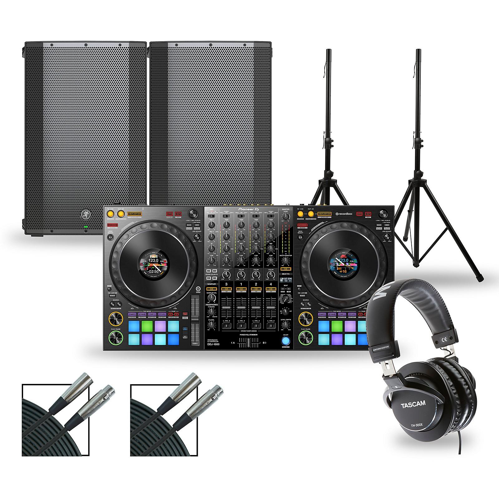 Pioneer DJ Package with DDJ-1000 Controller and Mackie Thump Series Speakers