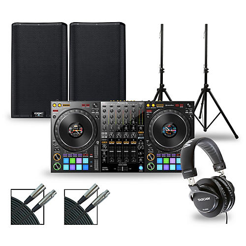 Pioneer DJ Package with DDJ-1000 Controller and QSC K.2 Series Speakers 12