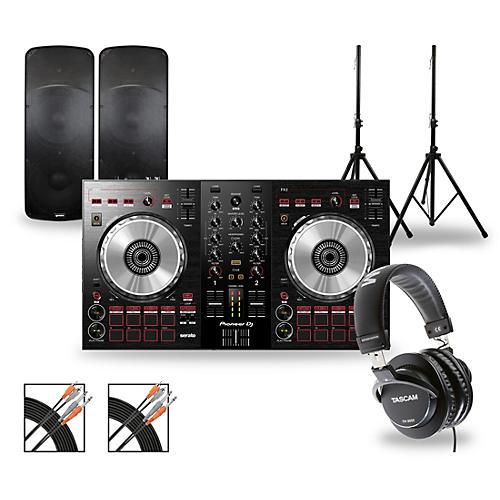 Pioneer DJ Package with DDJ-SB3 Controller and Gemini HPS BLU Series Speakers
