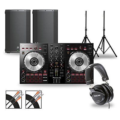 Pioneer DJ Package with DDJ-SB3 Controller and Mackie Thump Boosted Speakers