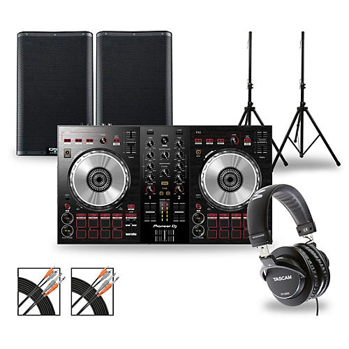 Pioneer DJ Package with DDJ-SB3 Controller and QSC K.2 Series Speakers 10